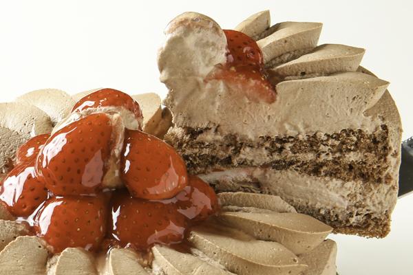 【目玉商品】みんな大好きチョコ生クリーム苺デコレーション 10号サイズ(15名〜18名様)【バースディ】【バースデーケーキ 誕生日ケーキ デコ】 【敬老の日プレゼント】の画像3枚目