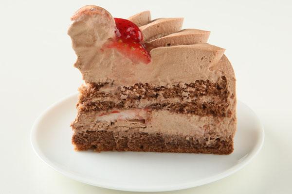 【目玉商品】みんな大好きチョコ生クリーム苺デコレーション 10号サイズ(15名〜18名様)【バースディ】【バースデーケーキ 誕生日ケーキ デコ】 【敬老の日プレゼント】の画像4枚目