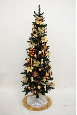 【送料無料】180cmゴールドスリムツリーオーナメントセット【クリスマス 飾り 誕生日 バースデー プレゼント 贈り物 ギフト お祝い】【食品 > 惣菜・食材】記念日向けギフトの通販サイト「バースデープレス」