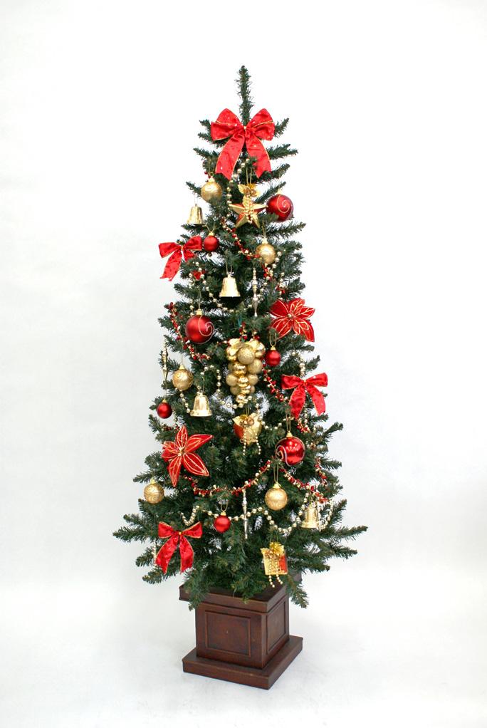 【送料無料】180cmスリムウッドポットツリーオーナメントセットト【クリスマス 飾り 誕生日 バースデー プレゼント 贈り物 ギフト お祝い】【食品 > 惣菜・食材】記念日向けギフトの通販サイト「バースデープレス」