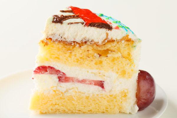 【2016年12月24日配送不可】イラストデコレーションケーキ 6号【バースデーケーキ 誕生日ケーキ デコ いちご   バースディ】の画像7枚目
