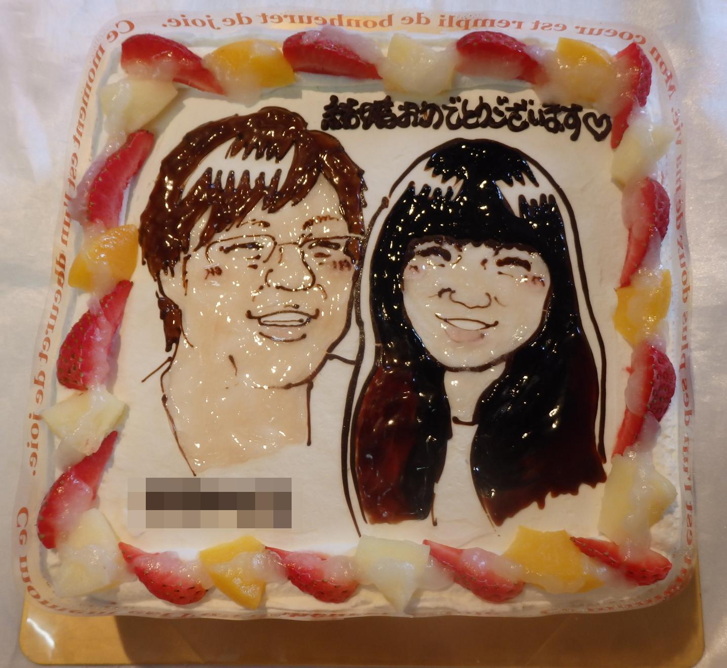 【送料無料】似顔絵ケーキ 9号 四角の画像5枚目