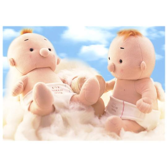 赤ちゃんタイプの体重ドール ドロールエンジェル(名入れ刺繍)【出産祝い 内祝い ベビー 赤ちゃん 誕生日 バースデー プレゼント 贈り物 ギフト お祝い】の画像1枚目