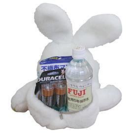体重ドール 防災アニマル(ウサギ)名入れ刺繍 PLB04