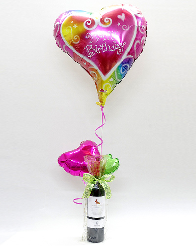 誕生日[A90]お誕生日のプレゼントに!イタリア赤ワインとバルーンのギフト(ヘリウム風船付き)【水・ソフトドリンク】記念日向けギフトの通販サイト「バースデープレス」
