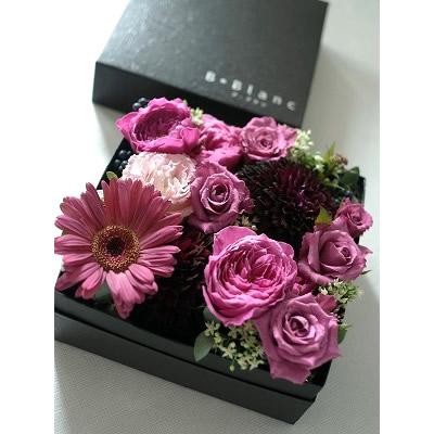 ボックスアレンジ【シック】【花 フラワー 誕生日 バースデー プレゼント 贈り物 ギフト お祝い】