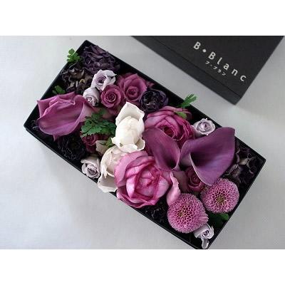 ボックスアレンジメント【パープル】L【花 フラワー 誕生日 バースデー プレゼント 贈り物 ギフト お祝い】の画像2枚目
