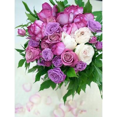 薔薇のフラットブーケ【花 フラワー 誕生日 バースデー プレゼント 贈り物 ギフト お祝い】の画像2枚目