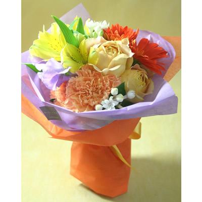 ジョイフル【ブーケ 花束 花 フラワー 誕生日 バースデー プレゼント 贈り物 ギフト お祝い】