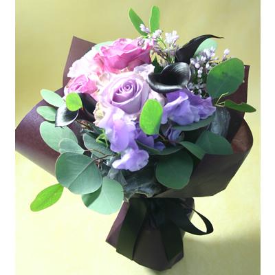 ノーブル【ブーケ 花束 花 フラワー 誕生日 バースデー プレゼント 贈り物 ギフト お祝い】