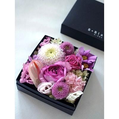ボックスアレンジ【ピンク】【花 フラワー 誕生日 バースデー プレゼント 贈り物 ギフト お祝い】の画像1枚目