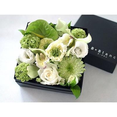 ボックスアレンジ【ホワイト】【花 フラワー 誕生日 バースデー プレゼント 贈り物 ギフト お祝い】
