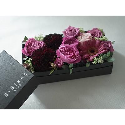 ボックスアレンジメント【シック】L【花 フラワー 誕生日 バースデー プレゼント 贈り物 ギフト お祝い】の画像2枚目