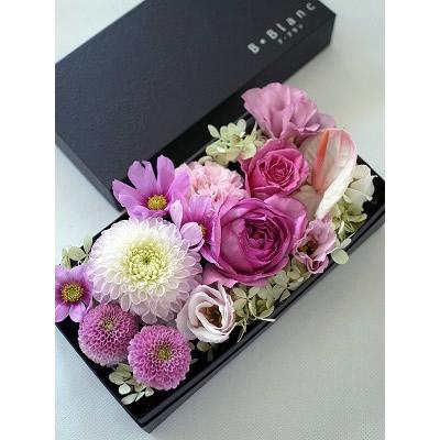 ボックスアレンジメント【ピンク】L【花 フラワー 誕生日 バースデー プレゼント 贈り物 ギフト お祝い】の画像1枚目