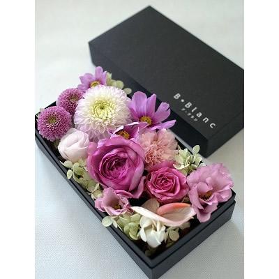 ボックスアレンジメント【ピンク】L【花 フラワー 誕生日 バースデー プレゼント 贈り物 ギフト お祝い】の画像2枚目
