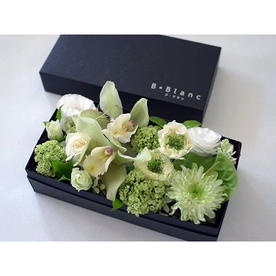 ボックスアレンジメント【ホワイト】L【花 フラワー 誕生日 バースデー プレゼント 贈り物 ギフト お祝い】