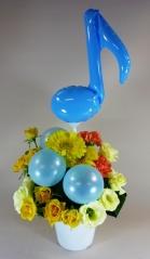 音符バルーン入のアレンジ♪【お花 フラワーギフト 贈り物 お祝い】【花・ガーデン・DIY > フラワー】記念日向けギフトの通販サイト「バースデープレス」