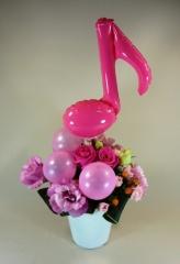 音符バルーンのアレンジ♪【お花 フラワーギフト 贈り物 お祝い】【花・ガーデン・DIY > フラワー】記念日向けギフトの通販サイト「バースデープレス」