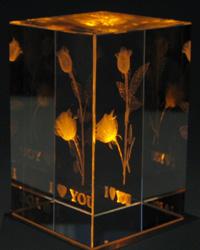 【バレンタインデーに!】3Dクリスタルアート「I LOVE YOU」 【贈り物 ギフト プレゼント】【日用品雑貨・手芸 > 年中行事】記念日向けギフトの通販サイト「バースデープレス」