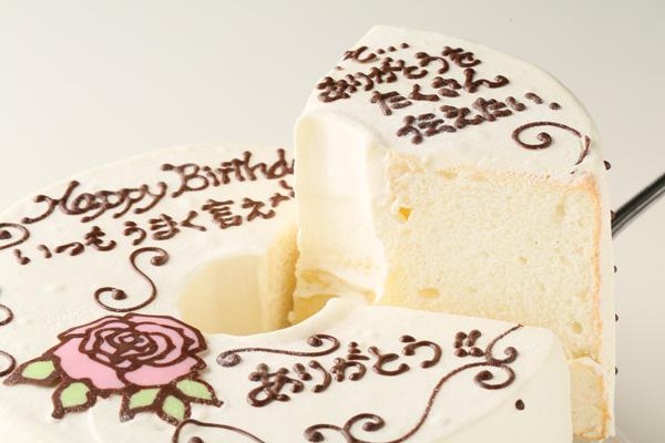 1日2台限定  お手紙ケーキ 愛、感謝、お礼、思いをのせて 直径17cm 薔薇の花の画像3枚目