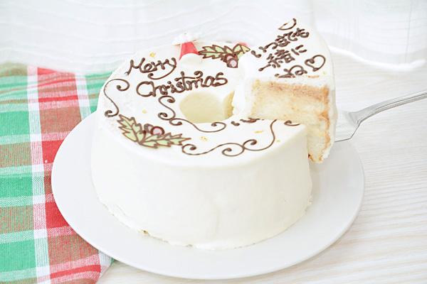 【クリスマスケーキ2016】お手紙ケーキ クリスマスケーキバージョン 直径17cm(2名から3名様用)【Xmas クリスマス シフォン】の画像3枚目