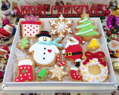 クリスマス アイシングクッキーセットL(送料無料)【クリスマス X'mas クッキー クリスマスプレゼント お祝い 焼き菓子】【スイーツ】記念日向けギフトの通販サイト「バースデープレス」