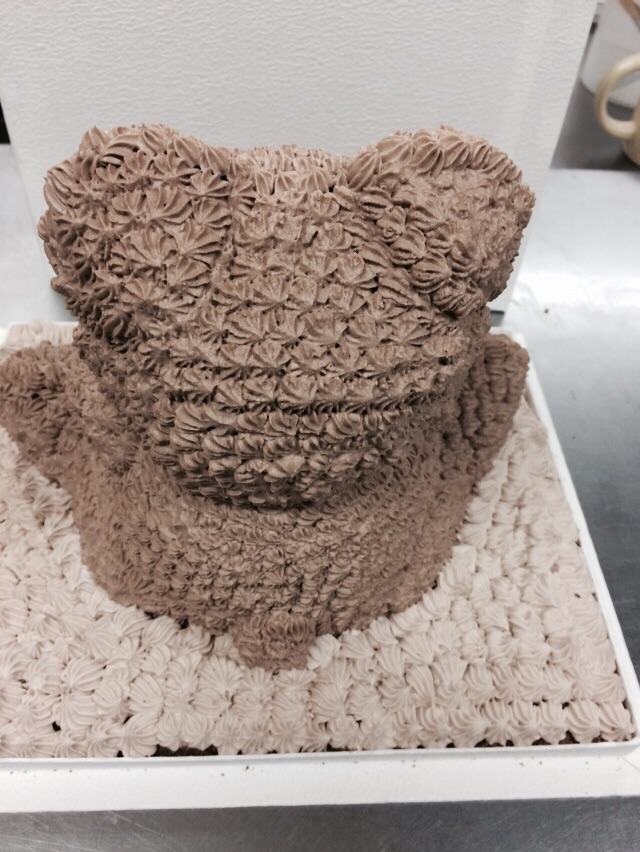 クマちゃんの立体ケーキ  高さ 約22cm(約8〜10人分)の画像4枚目