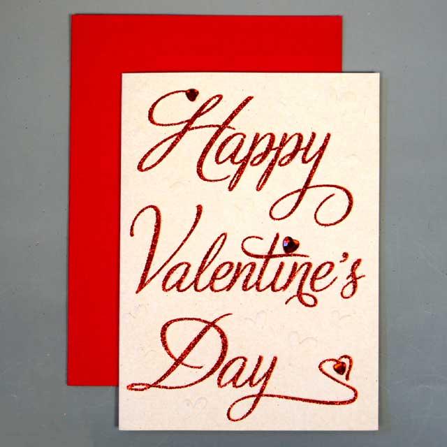 バレンタインカード  「カリグラフィー」 02 Valentine's Day【送料無料 メール便】【日用品雑貨・手芸 > 年中行事】記念日向けギフトの通販サイト「バースデープレス」