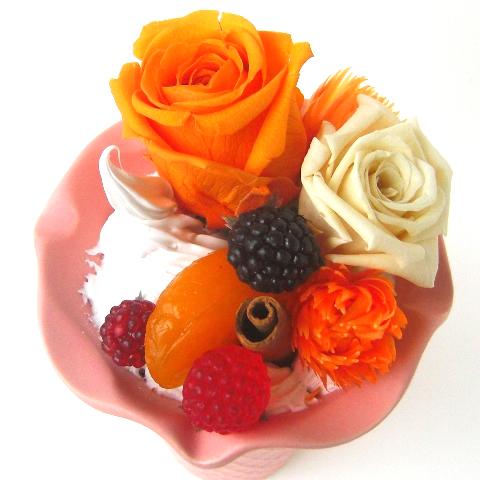 プリザーブドフラワーオレンジジェラード【花・ガーデン・DIY > フラワー】記念日向けギフトの通販サイト「バースデープレス」