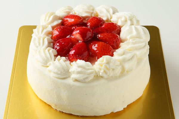 卵・乳製品・小麦粉除去 苺デコレーションケーキ 6号 18cmの画像1枚目