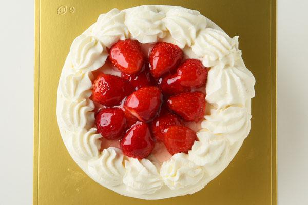 卵・乳製品・小麦粉除去 苺デコレーションケーキ 6号 18cmの画像2枚目