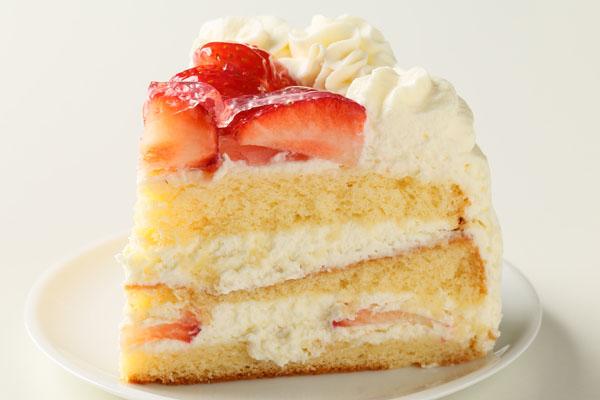 卵・乳製品・小麦粉除去 苺デコレーションケーキ 6号 18cmの画像4枚目