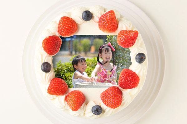 卵・乳製品・小麦粉除去 アレルギー対応カラーフォトケーキ 4号 12cmの画像1枚目