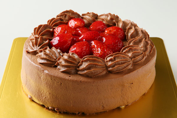 【送料無料】!高級生チョコデコレーションケーキ6号の画像1枚目