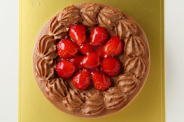 【送料無料】!高級生チョコデコレーションケーキ6号の画像2枚目