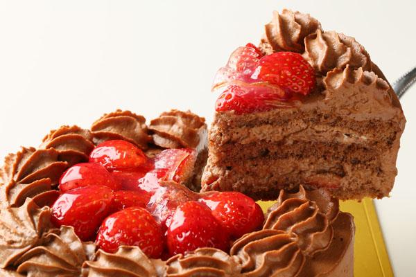【送料無料】!高級生チョコデコレーションケーキ6号の画像3枚目
