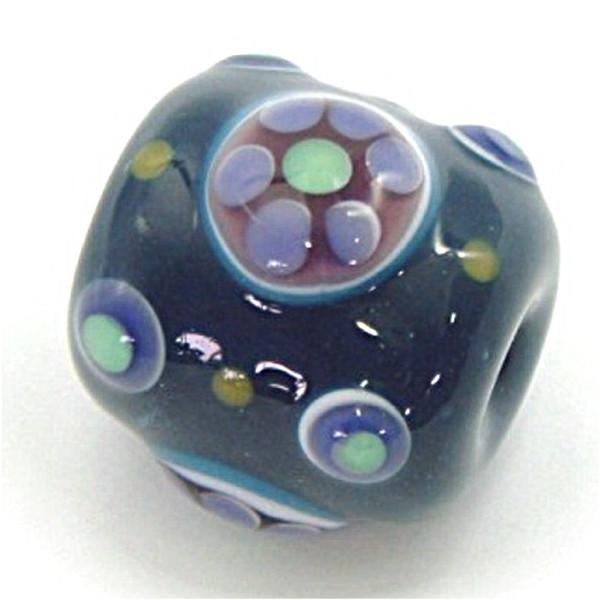 【送料無料】手作りの群青色に紫のきれいなとんぼ玉(七星紋玉)のネックレス【ジュエリー・アクセサリー】記念日向けギフトの通販サイト「バースデープレス」