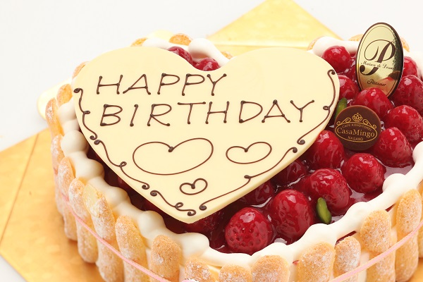 最高級洋菓子 特注ハート型シュス木苺レアチーズケーキ20cmの画像3枚目