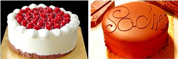 最高級洋菓子 シュス木苺レアチーズケーキ15cm&ウィーンの銘菓ザッハトルテ12cm セットの画像1枚目