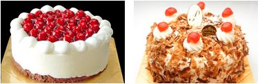 最高級洋菓子 シュヴァルツベルダーキルシュトルテ15cm&シュス木苺レアチーズケーキ15cm セット