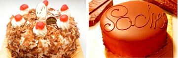 最高級洋菓子 シュヴァルツベルダーキルシュトルテ15cm&ウィーンの銘菓ザッハトルテ12cm セット