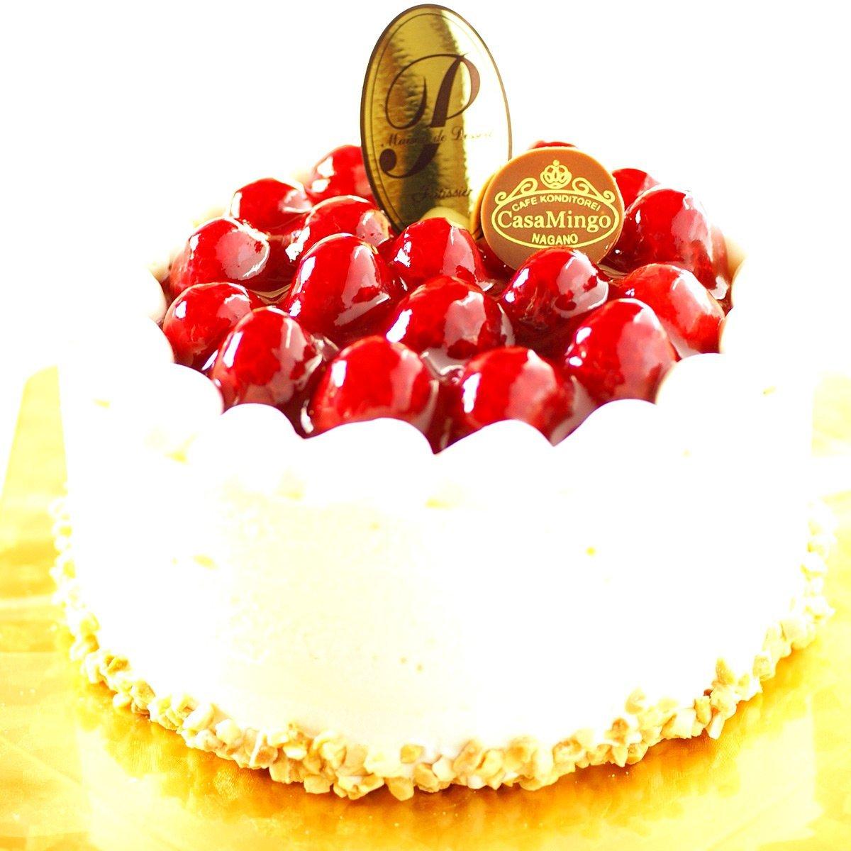 最高級洋菓子 シュス木苺レアチーズケーキ12cmの画像2枚目