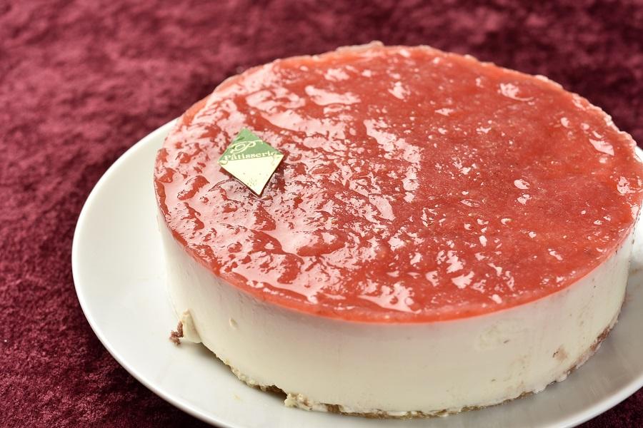 卵・乳製品・小麦粉除去 いちごの豆乳レアチーズケーキ5号(アレルギー対応)デコレーションセット付きの画像2枚目