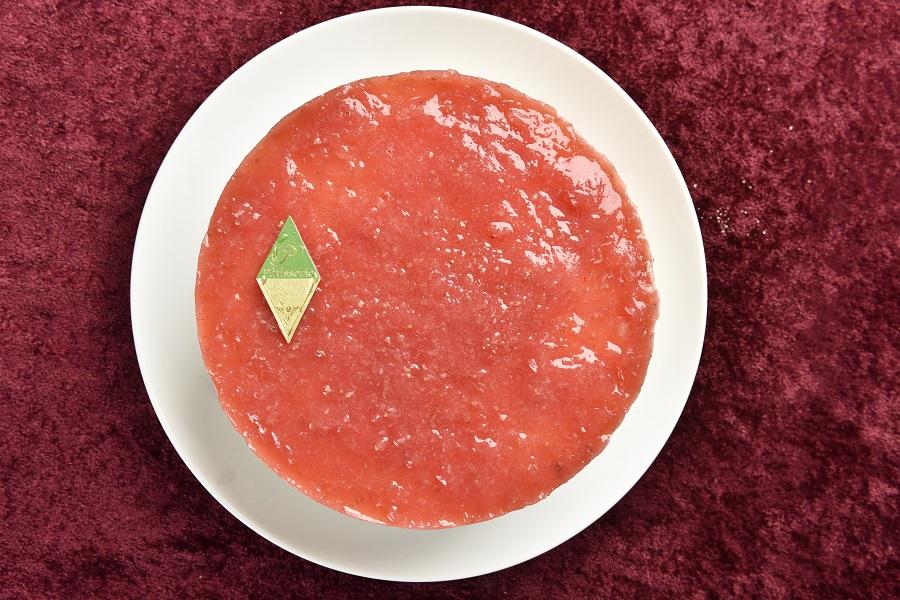 卵・乳製品・小麦粉除去 いちごの豆乳レアチーズケーキ5号(アレルギー対応)デコレーションセット付きの画像3枚目