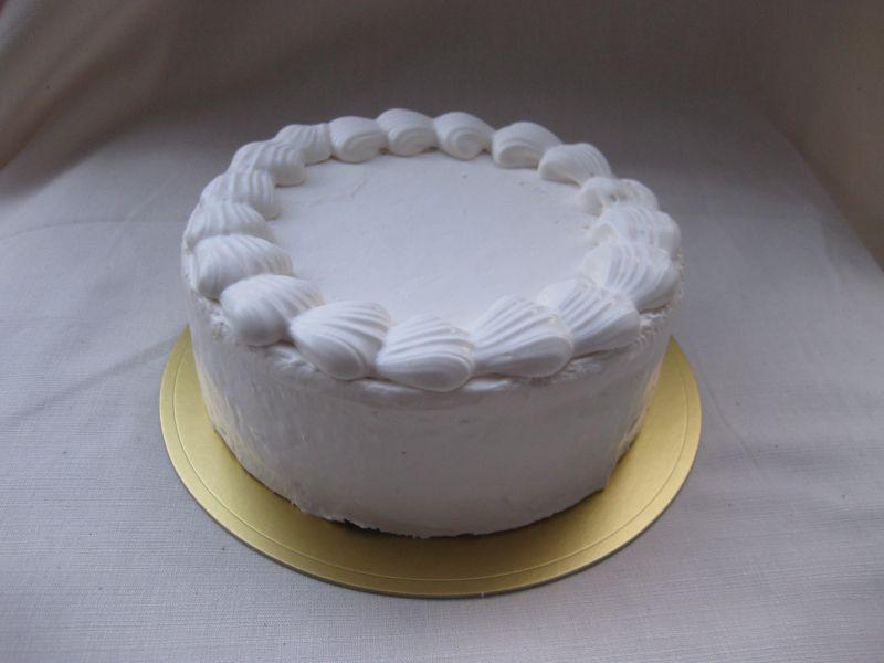卵・乳製品・小麦粉除去 真っ白なデコレーションケーキ 5号サイズ(アレルギー対応)デコレーションセット付き