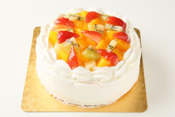 生クリームフルーツデコレーション6号【誕生日 デコ ケーキ バースデーケーキ バースデー】の画像1枚目