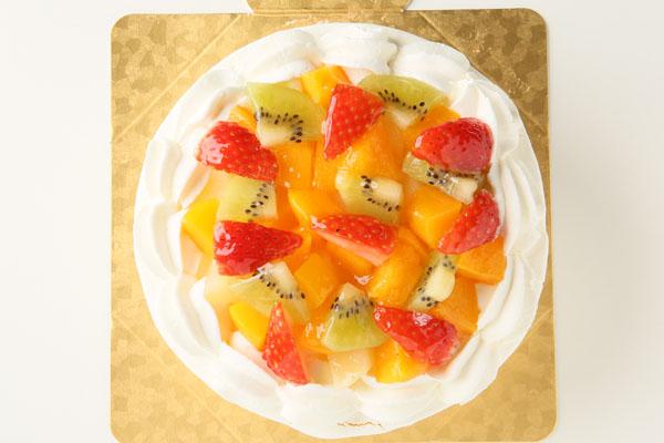 生クリームフルーツデコレーション6号【誕生日 デコ ケーキ バースデーケーキ バースデー】の画像2枚目