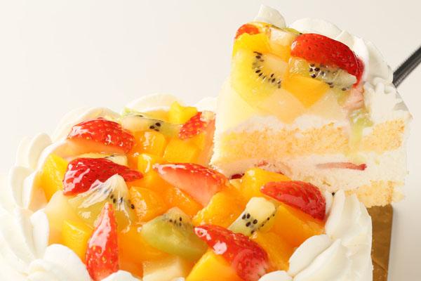 生クリームフルーツデコレーション6号【誕生日 デコ ケーキ バースデーケーキ バースデー】の画像3枚目