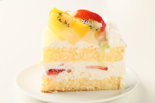 生クリームフルーツデコレーション6号【誕生日 デコ ケーキ バースデーケーキ バースデー】の画像4枚目