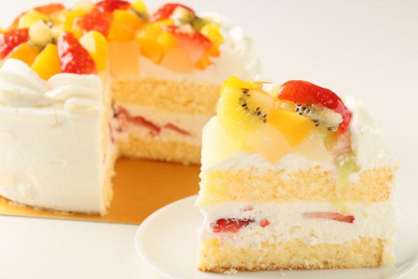 生クリームフルーツデコレーション6号【誕生日 デコ ケーキ バースデーケーキ バースデー】の画像5枚目